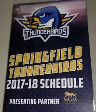 Springfield Thunderbirds AHL Hockey 2017-18 Schedule MGM Sponsored NEW