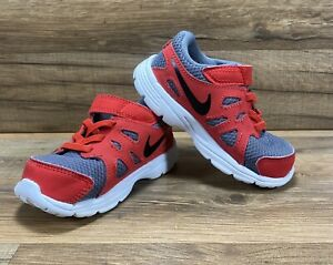 Nike Revolution 2 Toddler Boy's Size 7C Athletic Gray And Red Shoes