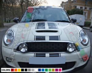 Stripe Kit Sticker Decal for Mini Cooper S JCW Bonnet Roof Boot Racing Scoop F55