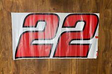 Joey Logano #22 Pennzoil Door Number Vinyl Numbers Penske Racing 3M Controltac