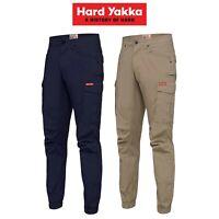 Mens Hard Yakka Work Pants Cuff 3056 Ripstop Stretch Cargo Slim Fit Tough Y02340