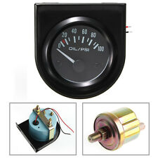 2'' 52mm Universal Car Auto 0-100PSI White LED Pointer Oil Pressure Press Gauge