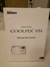 SPANISH NIKON COOLPIX S51c Digital Camera USER'S MANUAL guide only! New