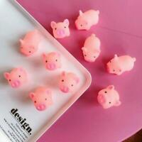 1 PCS Elastic Soft Silicone Squishy Anti-stress Pig Shape Toys Squeeze Kids Gift