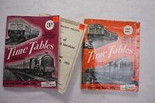 Sept 1952 & Sept 1956 Great Northern Ireland Irish Railway Train Timetable x2