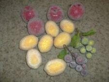 4 Apples 7 Lemons 2 Grapes Faux Fruit Sparkly