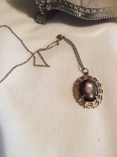 Vintage Estate Jewellery - Necklace Paua Shell Cameo