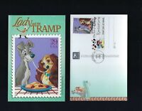 4 FDC Stamps US America Postcards Disney Art Romance Pictorial Cancellations