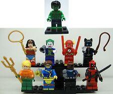 9pc Deadpool Catwomen WonderWoman Nick Fury Joker AquaMan Cyclops Flash