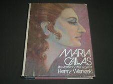 1975 MARIA CALLAS THE ART BEHIND THE LEGEND BY HENRY WISNESKI BOOK - I 1135