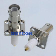 1pce connector SHV 5000V RP-BNC female plug flange solder high voltage audio