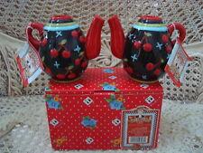 Mary Engelbreit Black Cherries Jubilee Teapot Candleholders *New Store Stock*