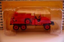 FIREFIGHTER TRUCK HACHETTE GMC CCKW 353 TANK LIGHTS OF FORET PORTUGAL 1/43