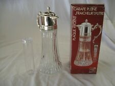 2 Quart Chillit Pitcher Decanter Carafe - New in original box with ice insert
