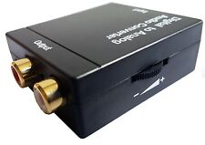 WGF TV Digital Optical Coaxial Toslink Signal to Analog Audio RCA L/R Converter