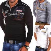 BEHYPE Herren Poloshirt Longsleeve Polo T-Shirt, versch. Modelle NEU WOW
