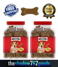 Milk-Bone Soft Chewy Treats Chicken Recipe Dog Food Snacks 37 Oz Jars 2-Pack