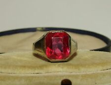 CHARMING, VICTORIAN, STERLING SILVER RING WITH NATURAL TOURMALINE GEM