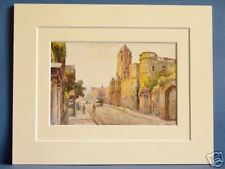 CHRIST CHURCH AND TRAM OXFORD VINTAGE DOUBLE MOUNTED HASLEHUST PRINT 10X8 c1930