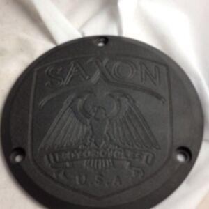 saxon motorcyles derby cover black griffin warlord sceptre villian harley 3 bolt