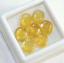 11.71 CT NATURAL YELLOW SAPPHIRE 7 PIECES OVAL SRI LANKA GEMSTONE WHOLESALE LOT