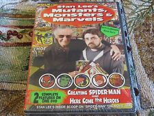 BRAND NEW SEALED DVD STAN LEE'S MUTANTS MONSTERS & MARVELS CREATING SPIDER-MAN +