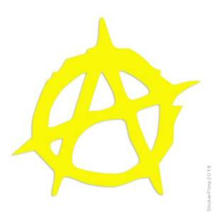 Anarchy Symbol Decal Sticker Choose Color + Size #783