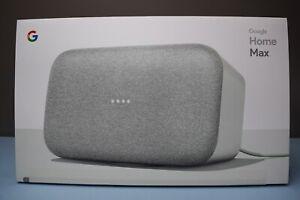 Google Home Max Smart Speaker  CHALK  Factory Sealed Unit        (location 17B)