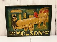 Rare Molson Since Depuis 1786 Beer Plaque 3D Large Sign Limited Canadas Heritage