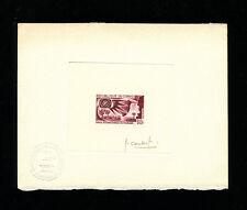 Congo 1967 Waterfalls Scott 165 Signed Sunken Die Artist Proof  in Dark Red