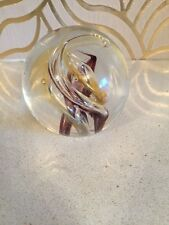 Lovely Vintage Glass Paperweight