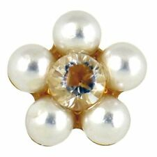 Butterfly Fastening Pearl Stud Stone Costume Earrings