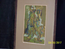 """Rare"" Peter Haworth Canadian Listed Artist Original Expressionist Oil c1957"