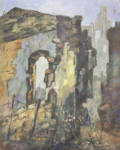 NEW BARBARA DOYLE (B.1917) FRAMED MODERN BRITISH OIL PAINTING - ROCK LANDSCAPE