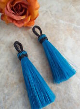Turquoise, horse hair tassel, 4.5 inch,  perfect tack Jewelry,  horsehair tassel