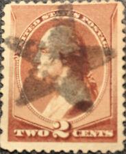 Scott #210 US 1883 Washington Bank Note Postage Stamp Star Fancy Cancel