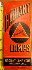 "vintage ""Radiant"" precision projector bulbs in nice box"