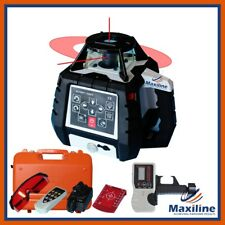 Maxiline GSW206 Red Beam Self Leveling Rotating Rotary Laser Level w Detector