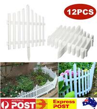 12X Garden Border Fencing Fence Panel Landscape Decor Picket Edging Yard Outdoor