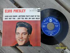 Elvis Presley 1962 French EP Good Luck Charm/She's Not You Cat# 86.308 France