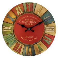 Reloj De Pared Retro Estilo Antiguo Reloj De Pared De Londres Estilo Vintage Números Romanos