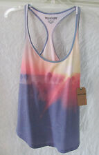 True Religion Sunset Print Shirt Tail Racerback Tank Top-Sunset -Size XS-NWT $68