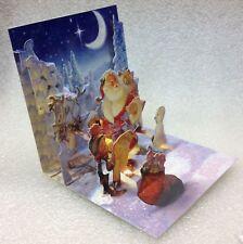 PopShots 3D Pop-Up Elvis Blue Christmas Greeting Card With Mailing Envelope