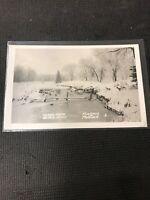 Postcard Island Park Bird Pond Portage La Prairie Manitoba Winter Scene  C01