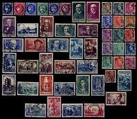 L'ANNÉE 1938 Complète, avec ADER, Oblitérés = Cote 301 € / Lot Timbres France