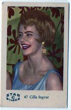 1960s Swedish Film Star Card Star Bilder C #47 Swedish Revue Artist Cilla Ingvar