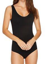HANRO Women's Cotton Sensation Tank Bodysuit Black Size M
