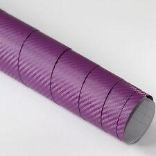 2x DIN A4 Wrapping Folie 3D Carbon Lila 21cm x 29,7cm Autofolie m Luftkanälen