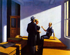 Hopper Edward Conference At Night Canvas 16 x 20    #4696