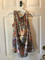 Tommy Hilfiger Many Colored Floral Sleeveless Tank Top Women's Size Medium
